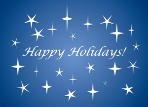 Studio Closed - Holiday Vacation Dec. 20th - Jan. 1st (Limited Fitness Classes will be held)