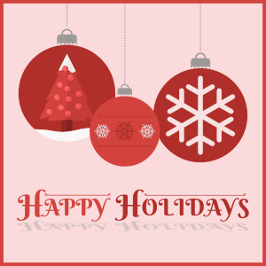 Studio Closed - Holiday Vacation Dec. 21st - Jan. 2nd
